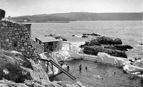 Ladies Bathing Pool Plymouth Hoe early 1900s