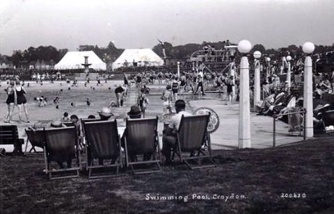 Swimming History London CROYDON.   Public Bath, Scarbrook Road. Open-air. Lido.