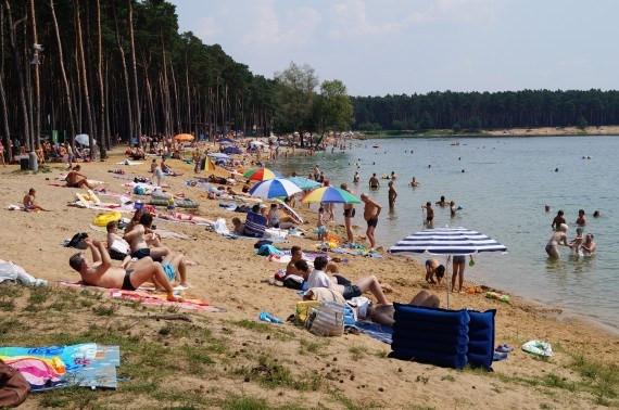 Wild Swimming at Sand Lake Lhota Czech Republic