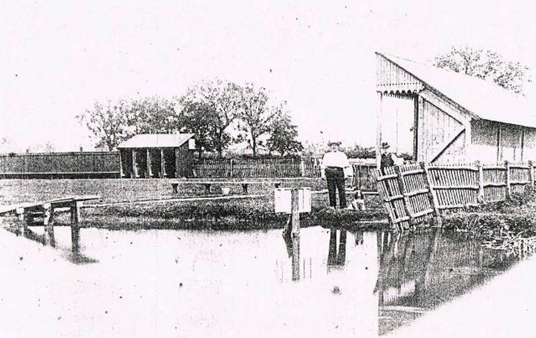 Swimming History Leicester, Bede House Bathing Station before the flood managment scheme