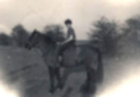 Nigel Allsop on horseback, Boathouse Field 1959