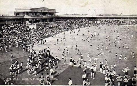 New Brighton Super Bathing Pool Swimming History