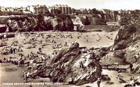 Newquay Beach and Bathing Pool Wild Swimming History Cornwall