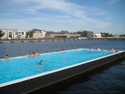 Wild Swimming in Berlin Germany