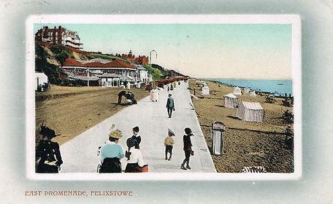 Felixstowe sea swimming 1900