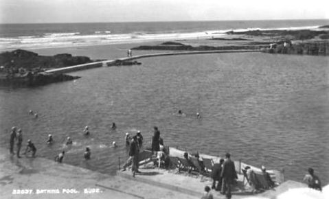 Sea pool Summerleaze beach Bude