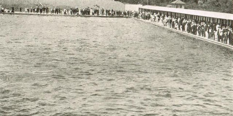 Swimming History London The Opening of Tooting Beck Lido 1906