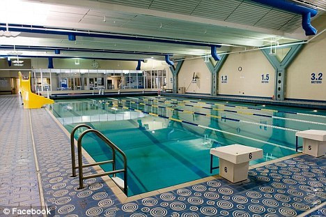 Scary: Most were children and almost all were treated and released following the incident at this community pool in British Columbia, Canada, on Sunday