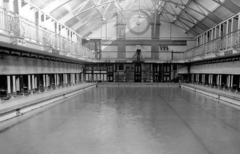 Swimming History London Edmonton Public Bath, Knights Lane.