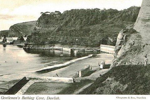 DAWLISH BATHING COVE 1900'