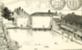 Rennison's swimming baths were the first