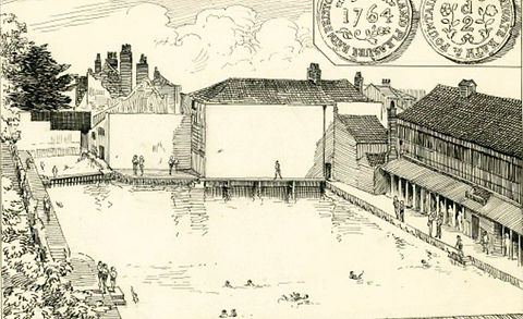 Rennison's swimming baths were the first
