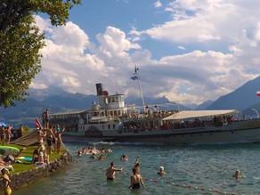 Wild Swimming Gunten Switzerland