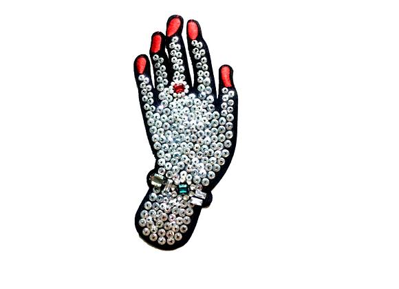 Parche Mano diamantes