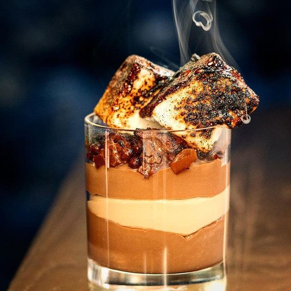 S'mores Chocolate Budino