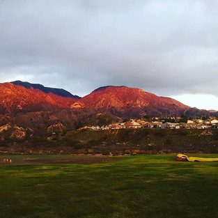 Beautiful shot of Kagel Mountain at sunset