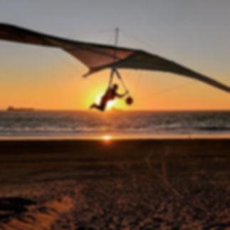 Beautiful sunset shot of Ian during his