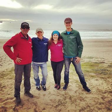 Windsports beach crew showing off their