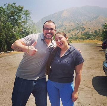 Roman and Jennifer getting pumped for their tandem lesson off Kagel Mountain! Happy Birthday Jennifer! #hangglide #bucketlist #birthdaysurpr