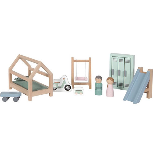 DOLL'S HOUSE CHILDREN'S ROOM PLAYSET