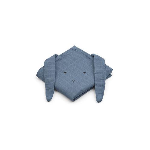 HANNAH MUSILIN CLOTH 2 PACK - RABBIT BLUE WAVE
