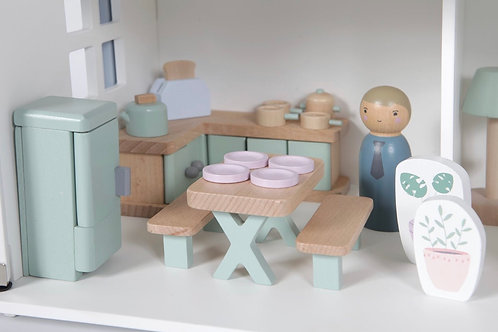 DOLL'S HOUSE KITCHEN PLAYSET