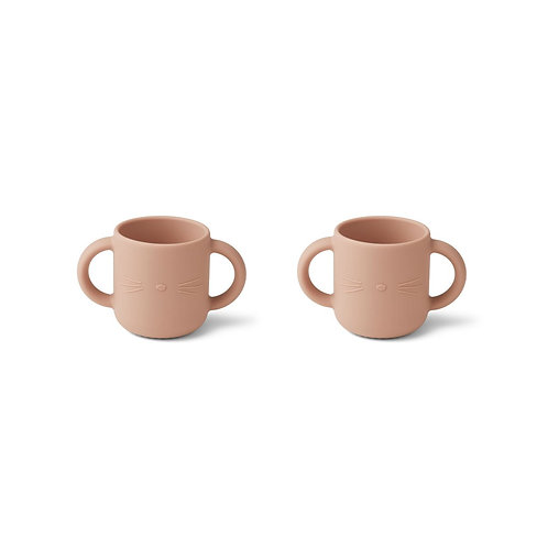 GENE SILICONE CUP 2 PACK -CAT ROSE