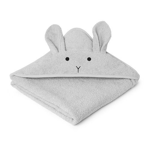 AUGUSTA HOODED BABY TOWEL - RABBIT DUMBO GREY
