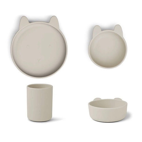 CYRUS SILICONE TABLEWARE 3 PACK -RABBIT SANDY