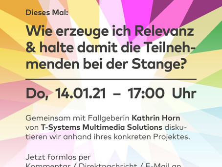 "Eventthinking: Online-Webinar ""Probleme lösen mit Methode!"" am 14.1.2021"