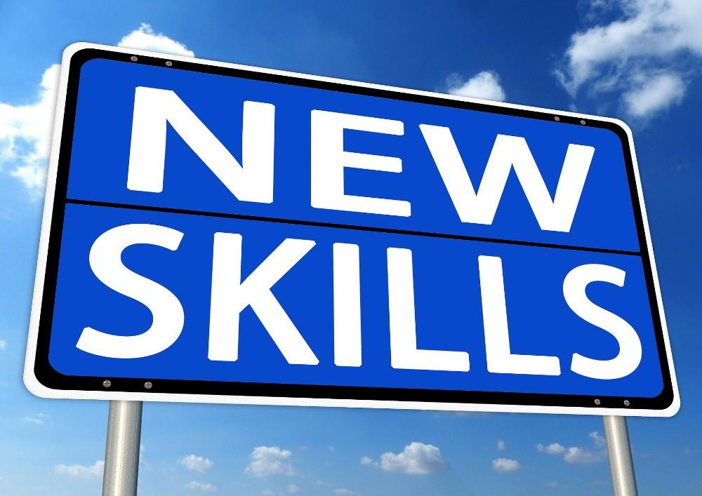 Schild New Skills