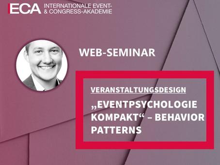 "Webinar ""Eventpsychologie kompakt - Behavior Patterns"" am 13.4.2021"