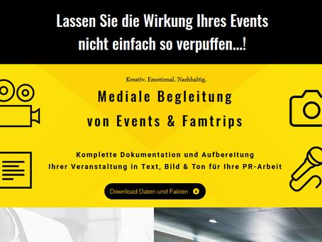 Mediale Begleitung für Events, Incentives und Famtrips