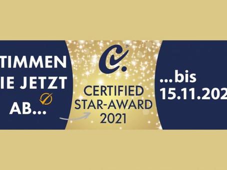 Stimmen Sie mit ab: CERTIFIED STAR-AWARD 2021