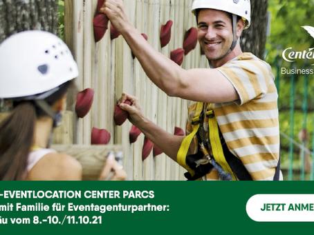 Inforeise für Eventplaner zur Business-Eventlocation Center Parcs Park Allgäu