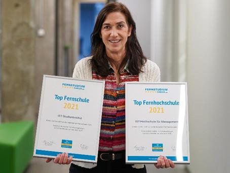Unser Bildungpartner IST wurde als Top-Fernhochschule und Top-Fernschule ausgezeichnet!