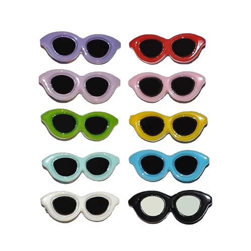 Haarspange Brille
