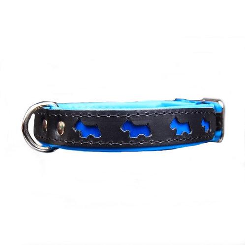 Halsband blau/schwarz