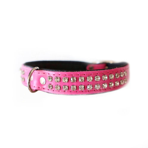 "Halsband ""Glitzer"" rosa"