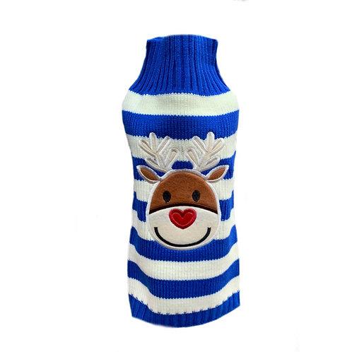 """Pullover """"Weihnachten"""" blau"""