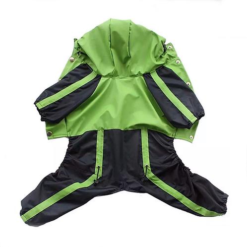 Regenanzug grün/schwarz