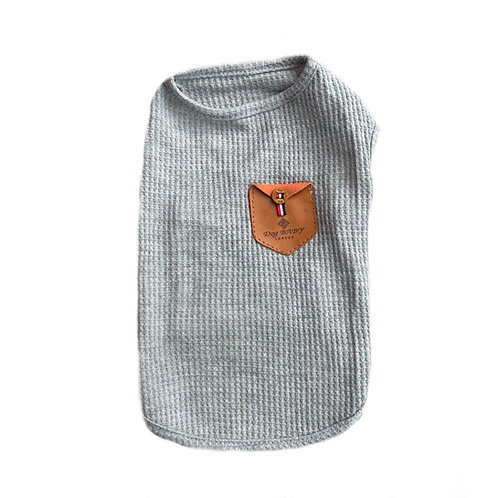 T- Shirt Dog Baby grau