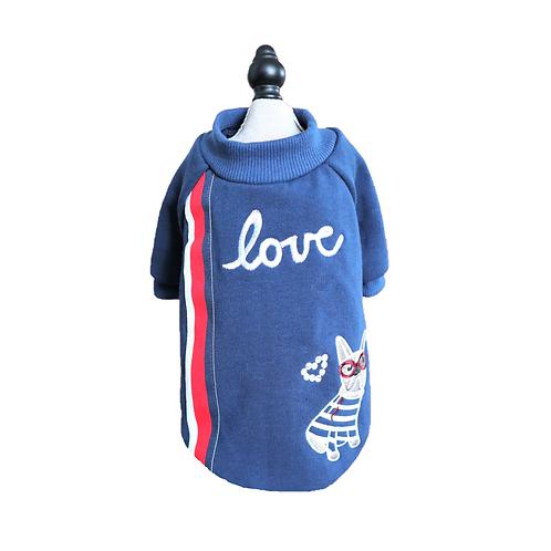 """Pullover """"LOVE"""" für Mops"""