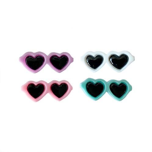 Haarspange Brille/Herz