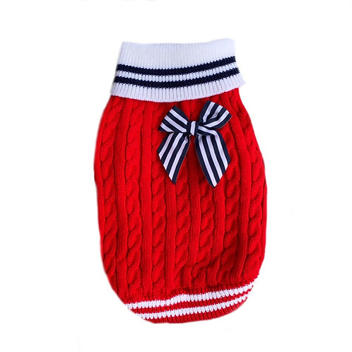 Pullover für Mops rot