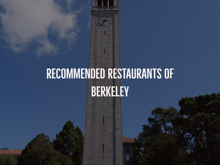 Recommended Restaurants of Berkeley