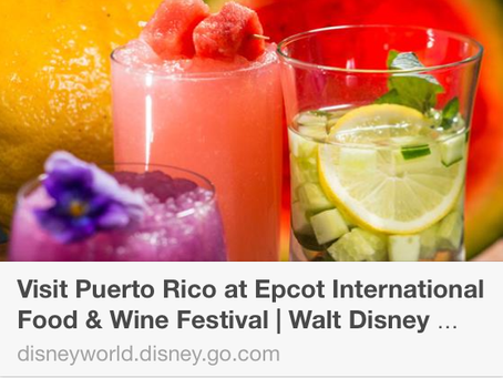 Epot Disney Food and Wine Festival: Discover Puerto Rico