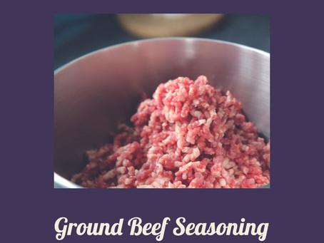 Ground Beef Seasoning