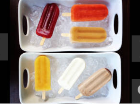 Popsicles with natural flavors
