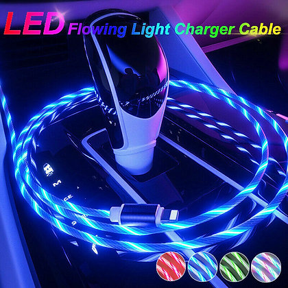LED Flowing Light Up Charge Cable for iPhone/Samsung/Android